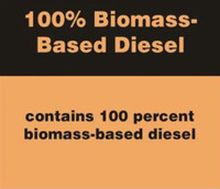 100% BIOMASS BASED DIESEL BLEND STICKER