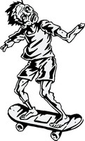 Zombie On A Skateboard