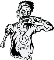 Zombie Brushing His Teeth - Smile!