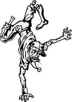 Zombie Dancing Handstand