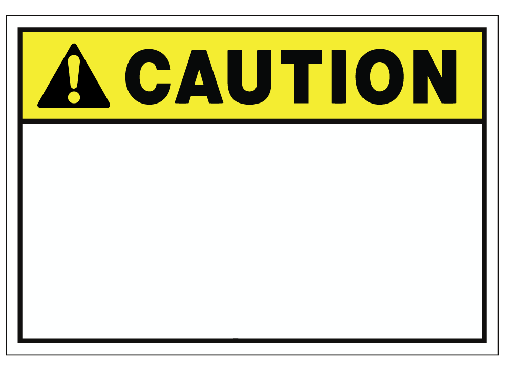 Customizable Caution Blank Safety Sign 2