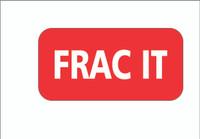 Frac It Square Hardhat Sticker