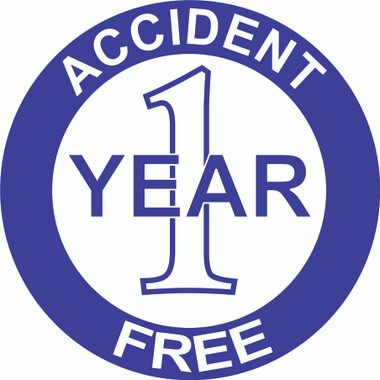 Accident Free 1 Year Hardhat Sticker