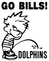 Calvin Buffalo Bills pissing on Miami Dolphins