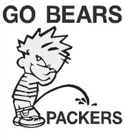 Bears piss on Packers Decal