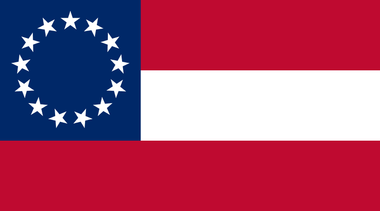 first national flag of the Confederate States of America sticker
