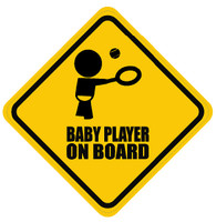 Baby Tennis Player On Board Sticker