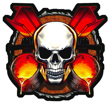 Iron Worker Skull Sticker