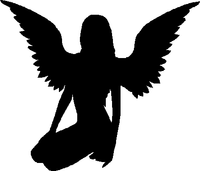 Sexy Angel With Wings Decal