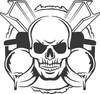 Iron Worker Skull Decal