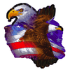 American Pride Bald Eagle & American Flag Sticker