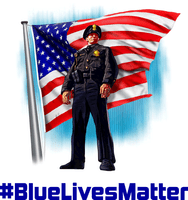 Police Lives Matter #BlueLivesMatter Sticker
