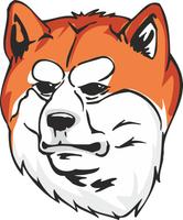 Akita Inu Dog Sticker