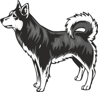 Alaskan Klee Kai Dog Vinyl Sticker
