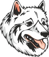 American Eskimo Dog Vinyl Sticker
