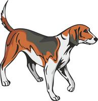 American Foxhound Dog Vinyl Sticker