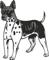 American Hairless Terrier Dog Vinyl Sticker