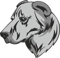 Armenian Gampr Dog Vinyl Sticker