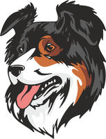 Australian Shepherd Dog Vinyl Sticker