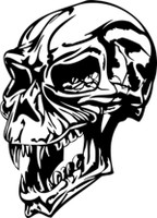 Ancient Vampire Skull Decal