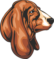 Basset Hound Dog Vinyl Sticker