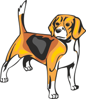 Beagle Dog Vinyl Sticker