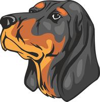 Black and Tan Coonhound Dog Vinyl Sticker