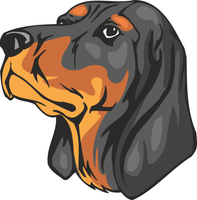 Black and Tan Coonhound Dog Sticker