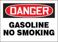Danger Gasoline No Smoking