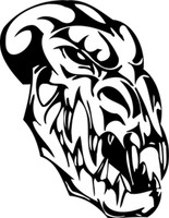 Crazy Crackin Skull Decal