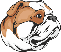 American Bulldog Dog Sticker