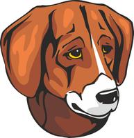 Black and Tan Virginia Foxhound Dog Vinyl Sticker