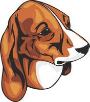Estonian Hound Dog Vinyl Sticker