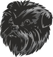 Affenpinscher Dog Vinyl Sticker
