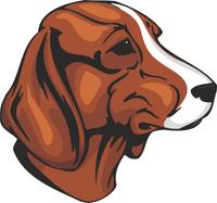 Hamiltonstövare Dog Vinyl Sticker