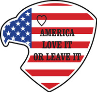 American Eagle USA Flag, Love it or Leave it Sticker