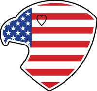 American Eagle USA Flag Sticker