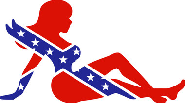 Sexy Girl In Confederate Flag Sticker