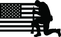 American Flag with Soldier #2 Decal
