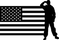 American Flag with Soldier #11 Decal