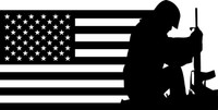 American Flag with Soldier #17