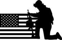 American Flag with Soldier #18