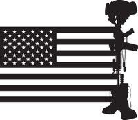 American Flag with Soldier #20