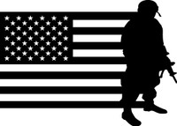 American Flag with Soldier #21