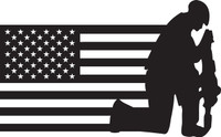 American Flag with Soldier #22 Decal