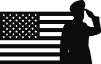 American Flag with Soldier #25