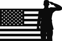 American Flag with Soldier #26 Decal