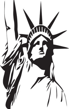 Lady Liberty Statue of Liberty #2 Decal
