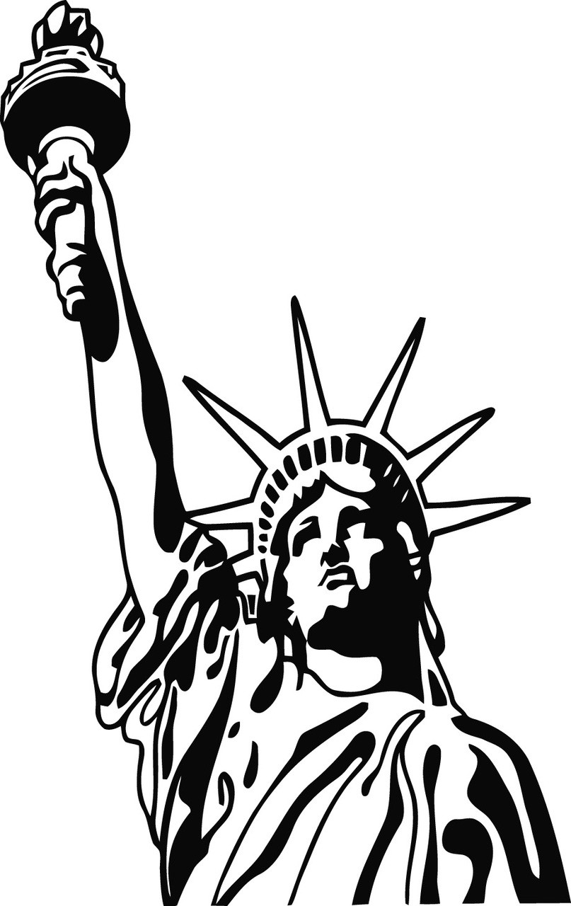 liberty falcons clip art black and white pictures to pin