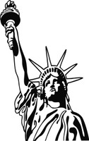 Lady Liberty Statue of Liberty #4 Decal